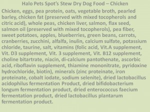 A completely healthy dog food